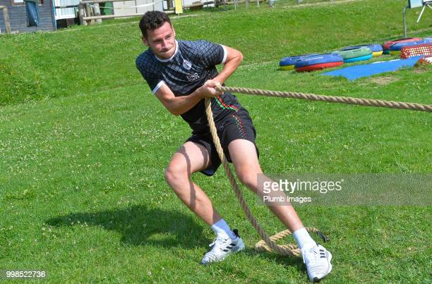 Elliott Moore during team bonding activities during the OHL Leuven training session on July 09 2018 in Maribor Slovenia