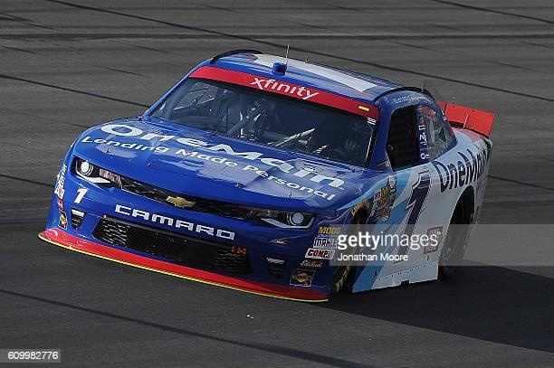 Elliott Sadler driver of the OneMain Chevrolet on track during practice for the NASCAR XFINITY Series VysitMyrtleBeachcom 300 at Kentucky Speedway on...