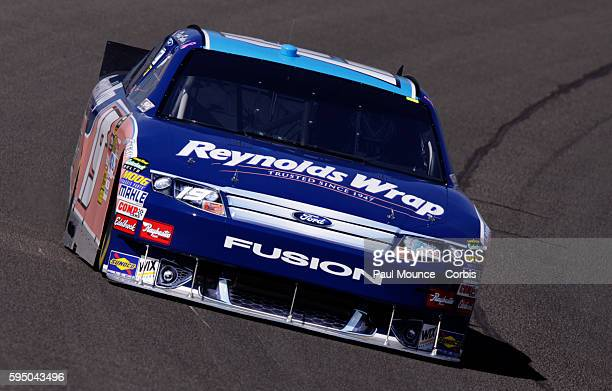 Elliott Sadler in the Reynolds Ford during practice for the Pepsi MAX 400 NASCAR Sprint Cup Series race at Auto Club Speedway