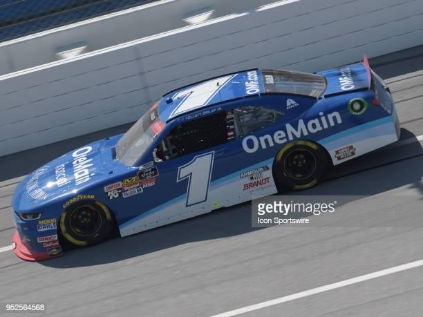 Elliott Sadler JR Motorsports Chevrolet Camaro Chevrolet OneMain Financial races through the trioval during the NASCAR Xfinity Series Sparks Energy...