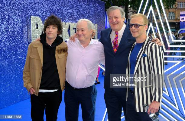 """Elliott Spencer, Paul Gambaccini, Stephen Fry and Christopher Sherwood attend the UK Premiere of """"Rocketman"""" at Odeon Luxe Leicester Square on May..."""