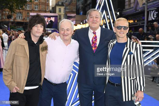 """Elliott Spencer, Paul Gambaccini, Stephen Fry and Christopher Sherwood attend the """"Rocketman"""" UK premiere at Odeon Leicester Square on May 20, 2019..."""