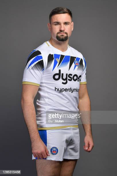 Elliott Stooke of Bath poses during the Bath Rugby Squad Photo Call at Farleigh House on November 12, 2020 in Bath, England.