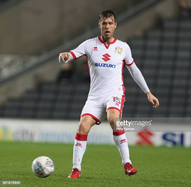 Elliott Ward of Milton Keynes Dons in action during the Sky Bet League One match between Milton Keynes Dons and Rotherham United at StadiumMK on...