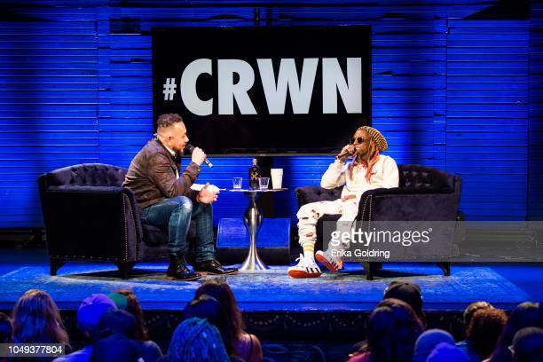 Elliott Wilson interviews Lil Wayne at House of Blues on October 3 2018 in New Orleans Louisiana