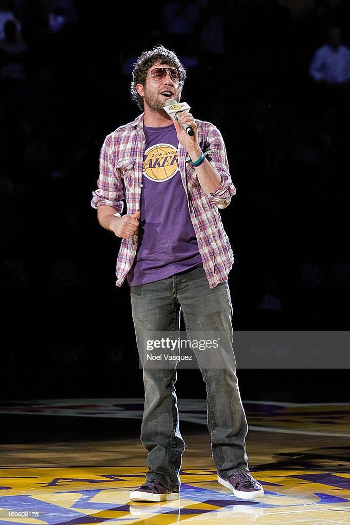 Elliott Yamin attends Game Two of the Western Conference Finals between the Phoenix Suns and the Los Angeles Lakers during the 2010 NBA Playoffs at Staples Center on May 19, 2010 in Los Angeles, California.