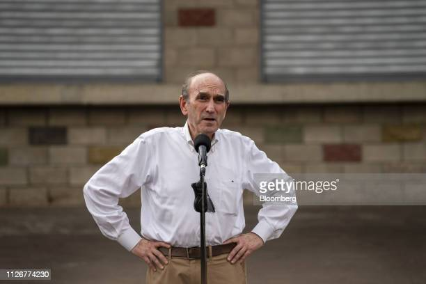 Elliott Abrams the US special representative for Venezuela left speaks during a news conference in Cucuta Colombia on Friday Feb 22 2019 After being...