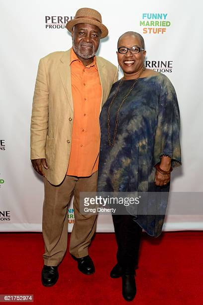 Ellis and Pam Williams arrive for the Screening Of Perrine Productions' 'Funny Married Stuff' at the ACME Comedy Theatre on November 7 2016 in Los...