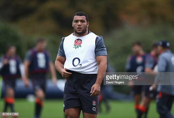Ellis Genge looks on during the England training session held at Pennyhill Park on November 15 2016 in Bagshot England