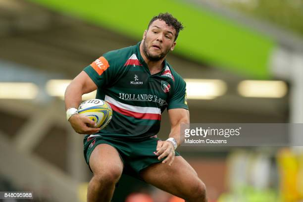 Ellis Genge of Leicester Tigers during the Aviva Premiership match between Leicester Tigers and Gloucester Rugby at Welford Road on September 16 2017...