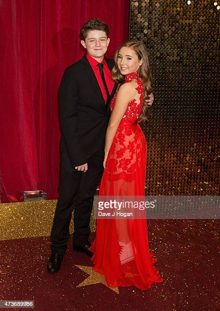Ellis Hollins and Lucy O'Donnell attend the British Soap Awards at Manchester Palace Theatre on May 16 2015 in Manchester England