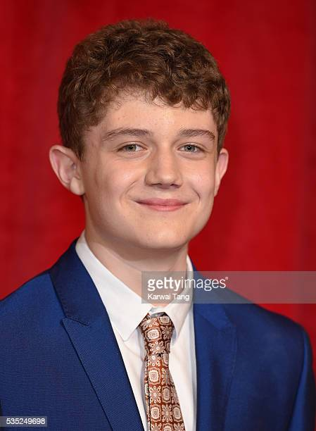 Ellis Hollins arrives for the British Soap Awards 2016 at the Hackney Town Hall Assembly Rooms on May 28 2016 in London England