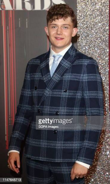 Ellis Hollins arrives on the red carpet during The British Soap Awards 2019 at The Lowry, Media City, Salford in Manchester.