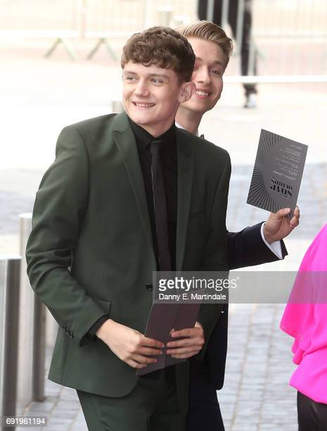 Ellis Hollins seen arriving at the British Soap Awards on June 3 2017 in Manchester England