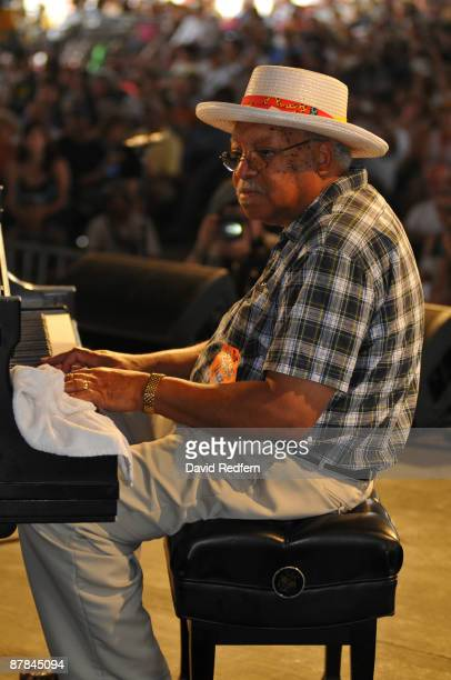 Ellis Marsalis performing on stage at the New Orleans Jazz Heritage Festival on May 3 2009 in New Orleans