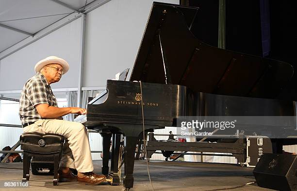 Ellis Marsalis performs at the 40th Annual New Orleans Jazz Heritage Festival Presented by Shell at the Fair Grounds Race Course on May 3 2009 in New...