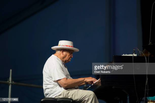 Ellis Marsalis performs at the New Orleans Jazz and Heritage Festival at the Fair Grounds Race Course in New Orleans Louisiana on April 26 2014