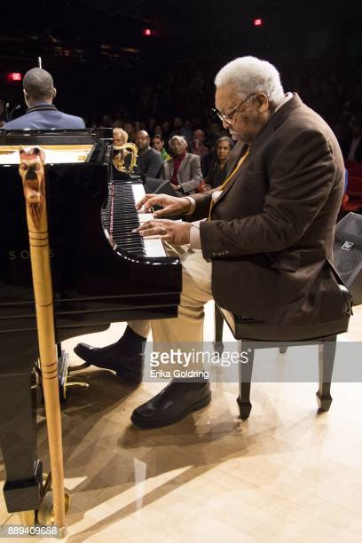 Ellis Marsalis performs at the New Orleans Jazz Market on December 9 2017 in New Orleans Louisiana