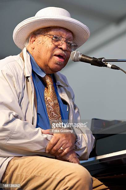 Ellis Marsalis performs during the 2013 New Orleans Jazz Heritage Music Festival at Fair Grounds Race Course on May 5 2013 in New Orleans Louisiana