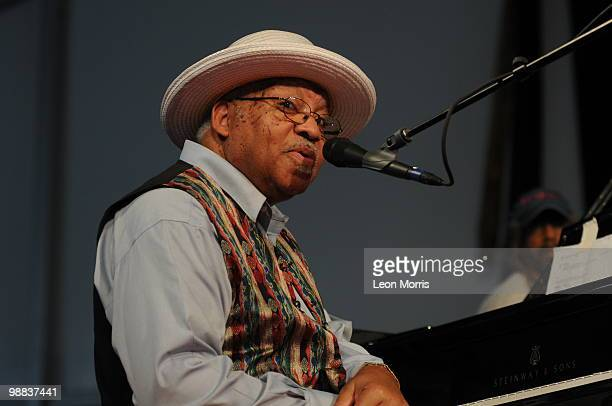 Ellis Marsalis performs on stage at the New Orleans Jazz and Heritage Festivalon May 2 2010 in New Orleans Louisiana