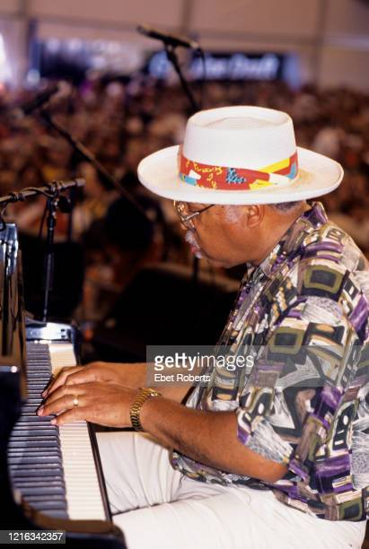 Ellis Marsalis perfroming at The Jazz Heritage Festival held in New Orleans Louisianna on May 7 1995