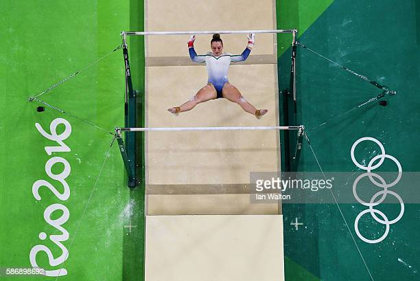 Ellis O'Reilly of Ireland competes on the uneven bars during Women's qualification for Artistic Gymnastics on Day 2 of the Rio 2016 Olympic Games at...
