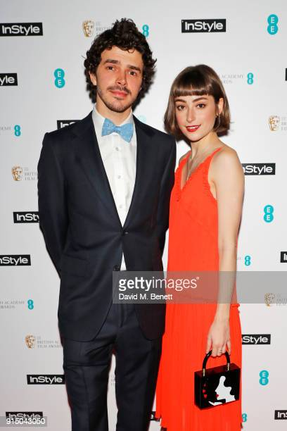 Ellise Chappell and Harry Richardson attend the InStyle EE Rising Star Party Ahead Of The EE BAFTAs at Granary Square on February 6 2018 in London...
