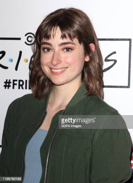 Ellise Chappell arrives on the red carpet during the FriendsFest 2019 at Kennington Park in London