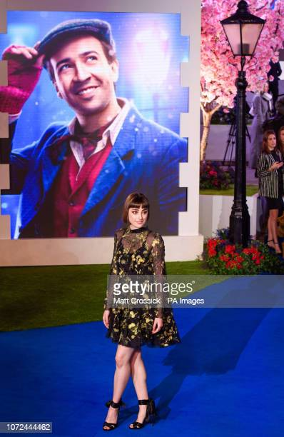 Ellise Chappell attending the European premiere of Mary Poppins Returns at the Royal Albert Hall in London PRESS ASSOCIATION Photo Picture date...
