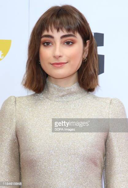 Ellise Chappell attends a South Bank Sky Arts Awards at the Savoy strand in London