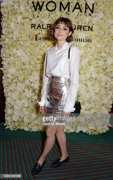 Ellise Chappell attends attends the European launch of WOMAN by Ralph Lauren hosted by Jessica Chastain at Isabel on September 14 2018 in London...