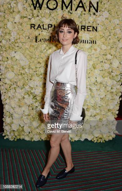 Ellise Chappell attends the European launch of WOMAN by Ralph Lauren hosted by Jessica Chastain at Isabel on September 14 2018 in London England