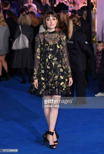 Ellise Chappell attends the European Premiere of Mary Poppins Returns at Royal Albert Hall on December 12 2018 in London England