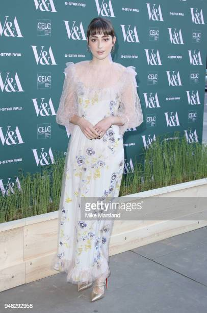 Ellise Chappell attends the Fashioned From Nature VIP preview at The VA on April 18 2018 in London England
