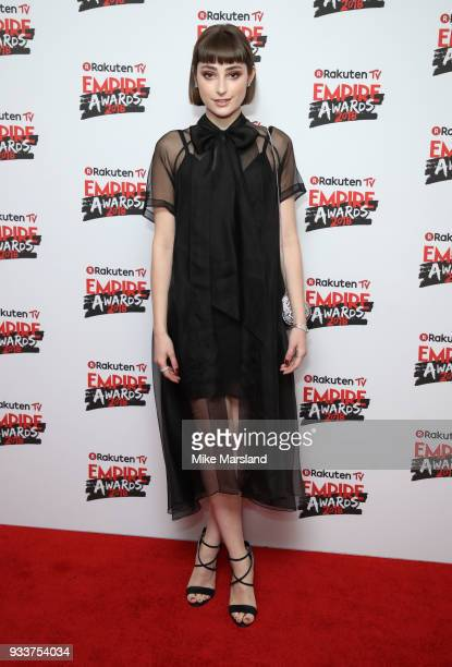 Ellise Chappell attends the Rakuten TV EMPIRE Awards 2018 at The Roundhouse on March 18 2018 in London England