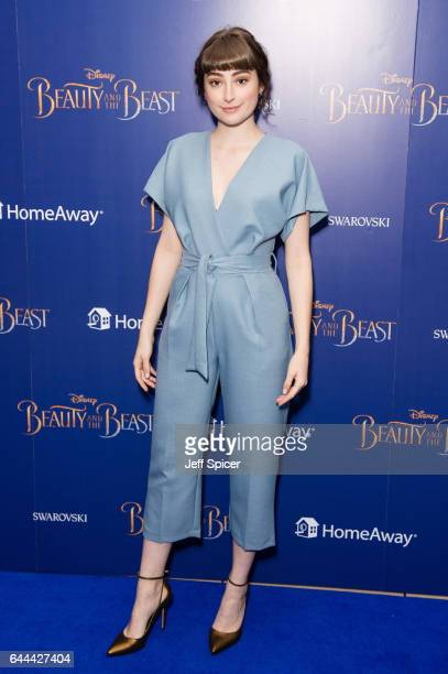 Ellise Chappell attends the UK Launch Event of Beauty And The Beast at Odeon Leicester Square on February 23 2017 in London England