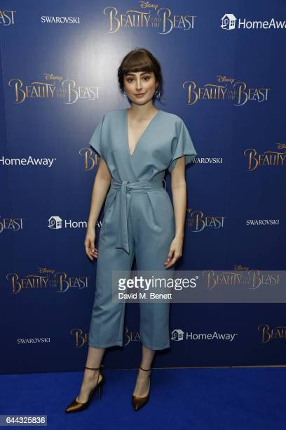 Ellise Chappell attends the UK Premiere of Beauty And The Beast at Odeon Leicester Square on February 23 2017 in London England