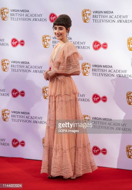 Ellise Chappell seen on the red carpet during the Virgin Media British Academy Television Awards at The Royal Festival Hall in London