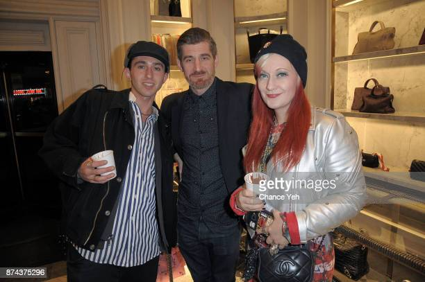 Ellitott Decesare Sean Slaney and Erin O'Brien attend 2017 Bergdorf Goodman holiday window reveal at Bergdorf Goodman on November 14 2017 in New York...
