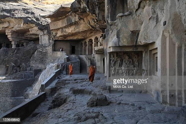 ellora caves, ellora, india - ellora stock pictures, royalty-free photos & images