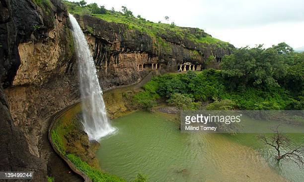 Ellora Caves in monsoon