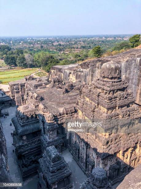 ellora caves, india - ellora stock pictures, royalty-free photos & images