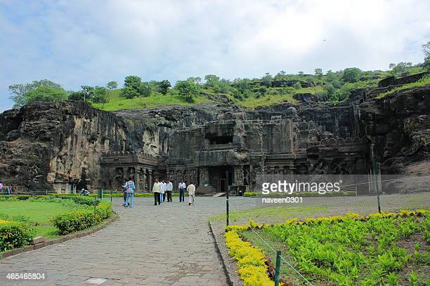 ellora caves-temples - ellora stock pictures, royalty-free photos & images