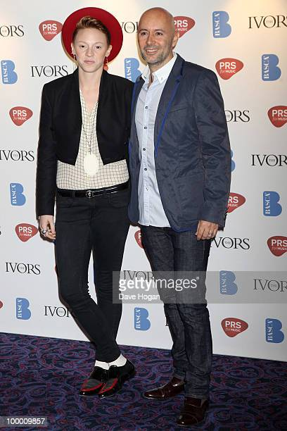 Elly jackson and Ben Langmaid of La Roux arrive at the 55th Ivor Novello Awards held at Grosvenor House Hotel on May 20 2010 in London England