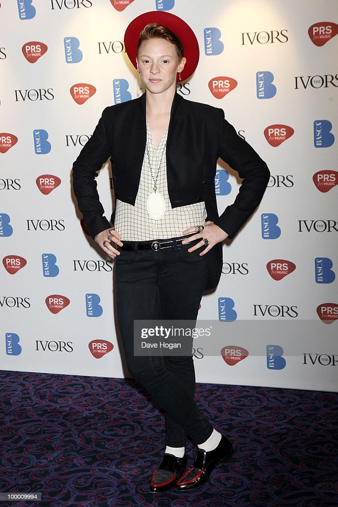 Elly Jackson of La Roux arrives at the 55th Ivor Novello Awards held at Grosvenor House Hotel on May 20, 2010 in London, England.