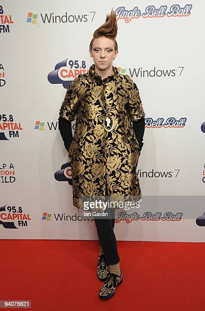 Elly Jackson of 'La Roux attends the Capital FM Jingle Bell Ball Day 2>> at 02 Arena on December 6 2009 in London England