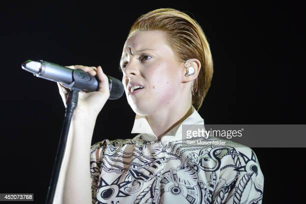 Elly Jackson of La Roux performs at the Bill Graham Civic Auditorium on July 11 2014 in San Francisco California
