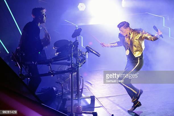 Elly Jackson of La Roux performs live on stage at L'Olympia on May 13 2010 in Paris France