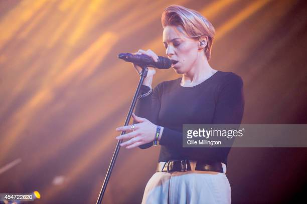 Elly Jackson of La Roux performs on Day 2 of Bestival at Robin Hill Country Park on September 5 2014 in Newport Isle of Wight