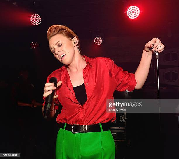Elly Jackson of La Roux performs on stage at Basement on July 23 2014 in London Canada